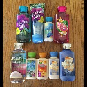 Bath & Body Works 9-Piece Summer Bundle
